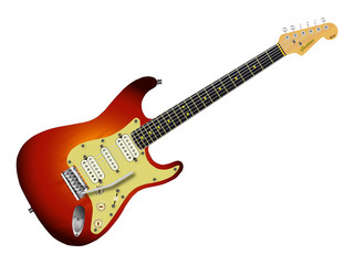 Sunburst Electric Guitar