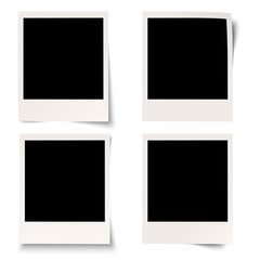 4 Polaroids mit Schatten