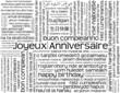 """CARTE """"JOYEUX ANNIVERSAIRE"""" (fête voeux joie amis félicitations)"""