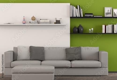 wohnzimmer mit gr ner wand von fischer lizenzfreies foto 60265000 auf. Black Bedroom Furniture Sets. Home Design Ideas