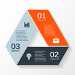 Modern vector info graphic for business project