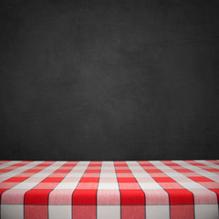 Tablecloth on Chalkboard