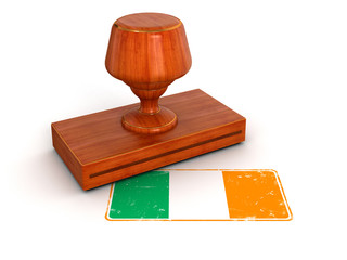 Rubber Stamp Irish flag (clipping path included)
