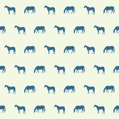 Abstract horse silhouette seamless pattern