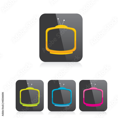 vector tv icon. online tv symbol. app icon