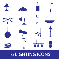 lighting icons set eps10