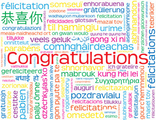 """CONGRATULATIONS"" Card (well done nice one achievement success)"