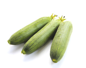 zucchini courgette Isolated on white