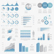 Big collection of modern business infographic vector elements