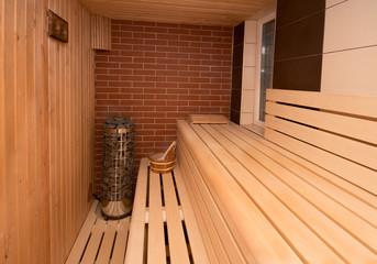 sauna interior and sauna accessories
