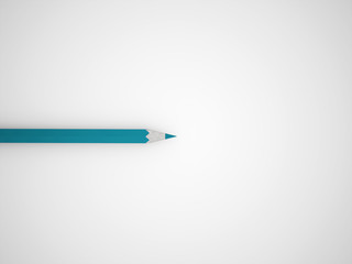 One blue pencil