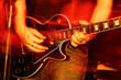 Leinwanddruck Bild - Live Concert guitar player close-up