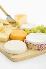 Käseplatte, verschiedene Käsesorten