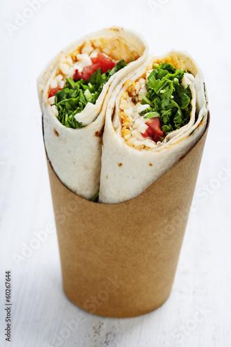 Papiers peints Assortiment tortilla wraps