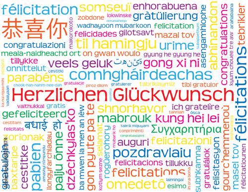 Herzlichen gluckwunsch in diversen sprachen