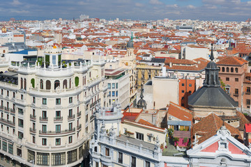 Historical buildings in Madrid