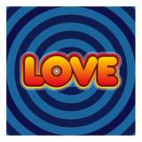 Mot Love sur fond en spirale