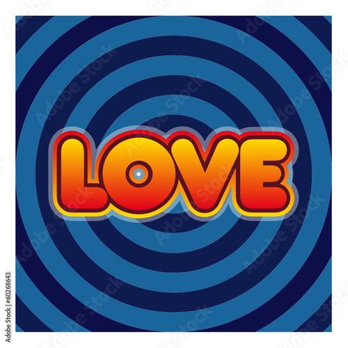 Foto op Plexiglas Spiraal Mot Love sur fond en spirale