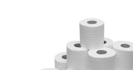 toilet paper pile