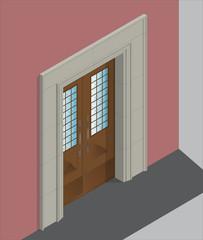Isometric entrance