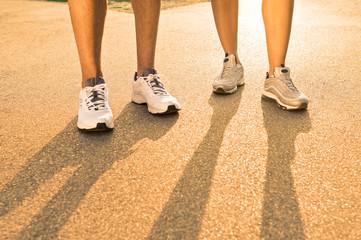 Closeup Of Runners Leg