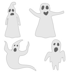 cartoon image of ghost monsters