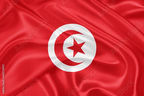 Foto op Aluminium Tunesië flag of Tunisia