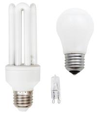 incandescent, tubular fluorescent, halogen lamps