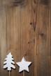 rustikaler weihnachtlicher Hintergrund