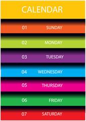 modern vector calendar design