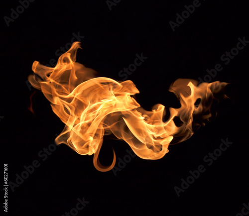 canvas print picture Fire flames background