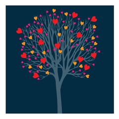 Cœurs dans un arbre