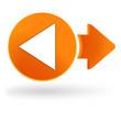 retour sur symbole web orange