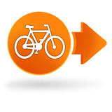 vélo sur symbole web orange