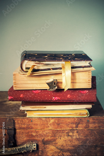 Vintage Albums with Memories, toned image