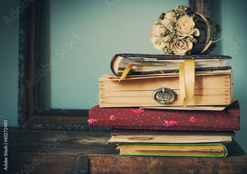 Vintage Albums with Memories, toned