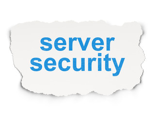 Security concept: Server Security on Paper background