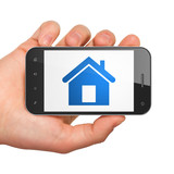 Protection concept: Home on smartphone