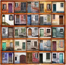 portes et portails collage vintage