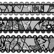 Set of lacy vintage trims. Vector illustration.