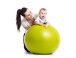 gymnastics for baby  with fitness ball