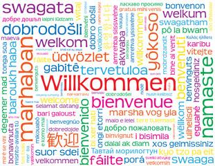 """""""WILLKOMMEN"""" Karte (Kundendienst Service Kontakt)"""