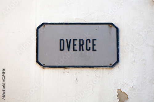Dverce street sign in Upper Town Zagreb, Croatia