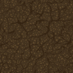 Seamless pattern of ground inside. Vector Illustration