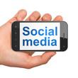 Social media concept: Social Media on smartphone