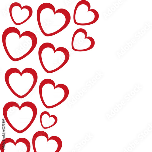 banner in the shape of heart on white background