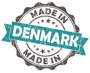 made in denmark turquoise grunge seal