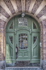 Green Door Art Deco Style