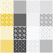 Materiał do szycia geometric seamless patterns: dots, squares