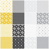 Fototapety geometric seamless patterns: dots, squares